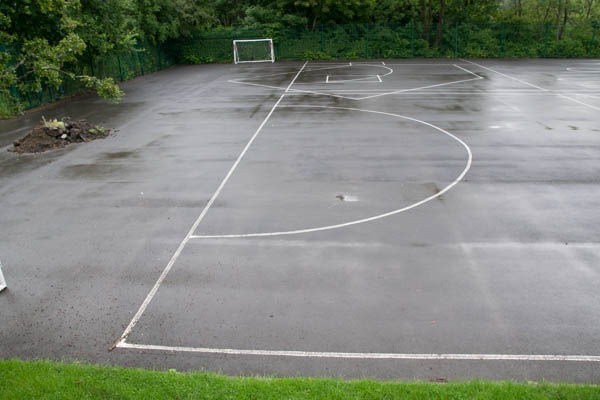 playground mark removal, high pressure water, school playground, playground marking removal