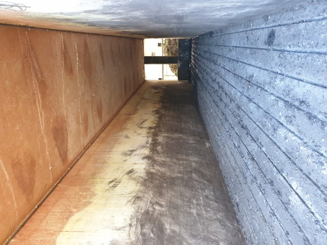 Steam Cleaning of a Composting Plant Walls - East Yorkshire - before